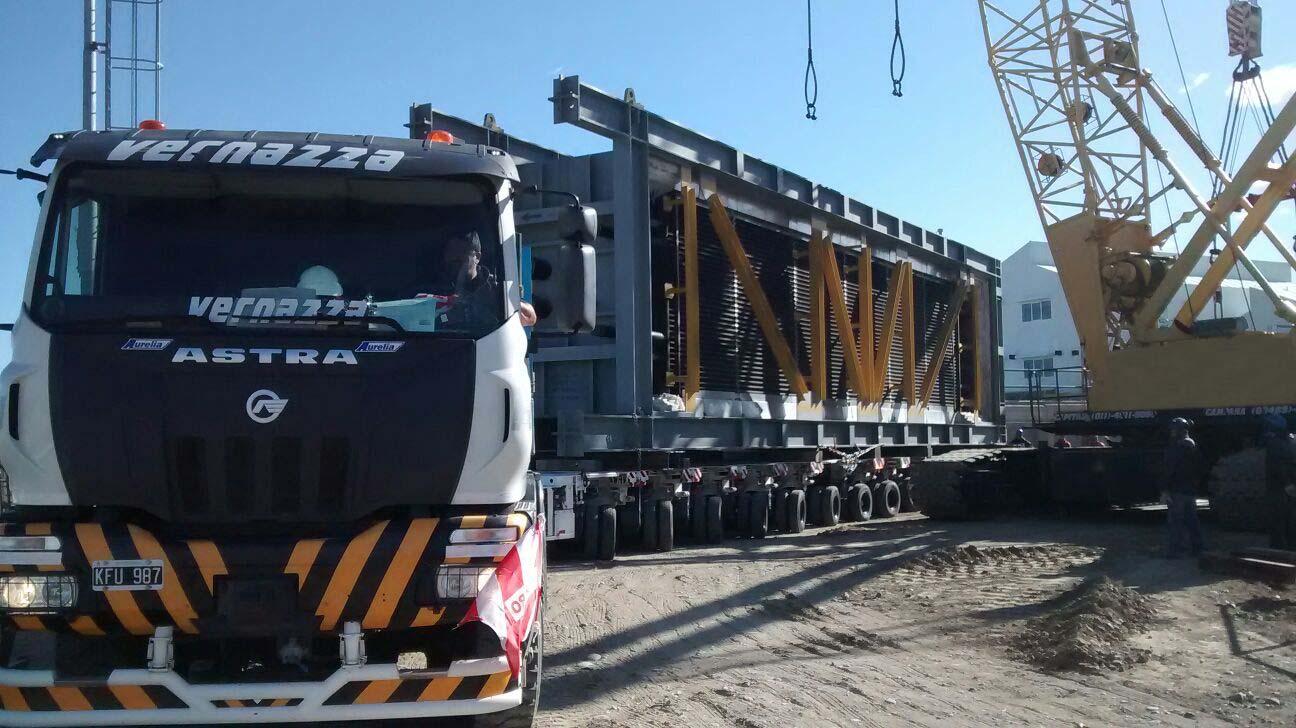 Transporte de mazos de caldera: Ciclo combinado Central Térmica Cerro Dragón